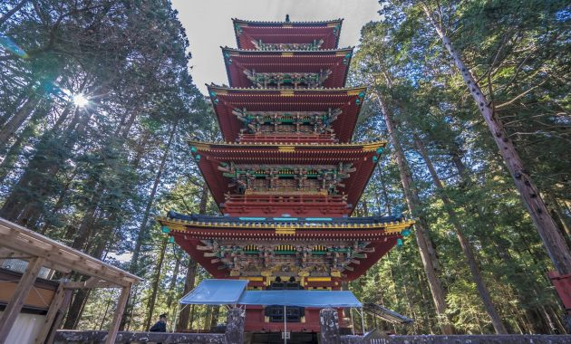 Five Storied Pagoda from Nikko Toshogu Shrine