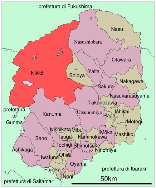 Nikko Toshogu Map in Tochigi prefecture Japan