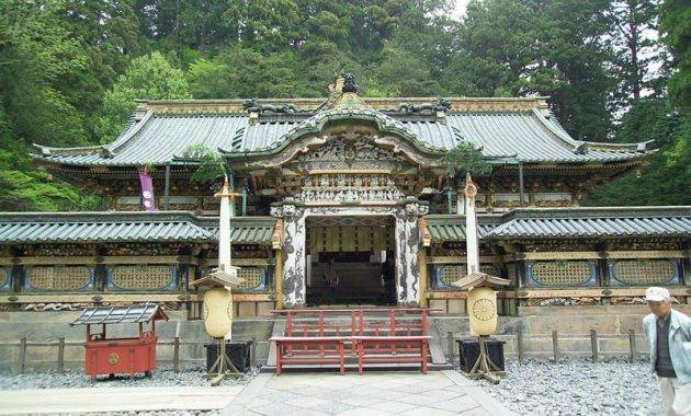 The main temple building Nikko Toshogu Shrine