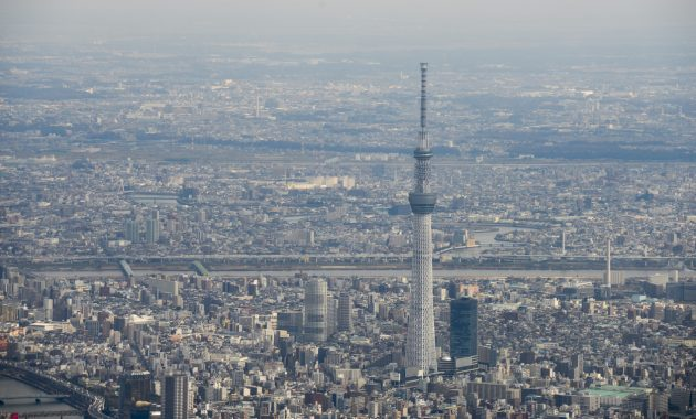 tokyo skytree japan viewing from sky